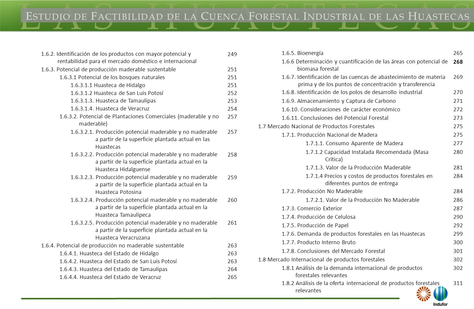 1.6.2. Identificación de los productos con mayor potencial y rentabilidad para el mercado doméstico e internacional