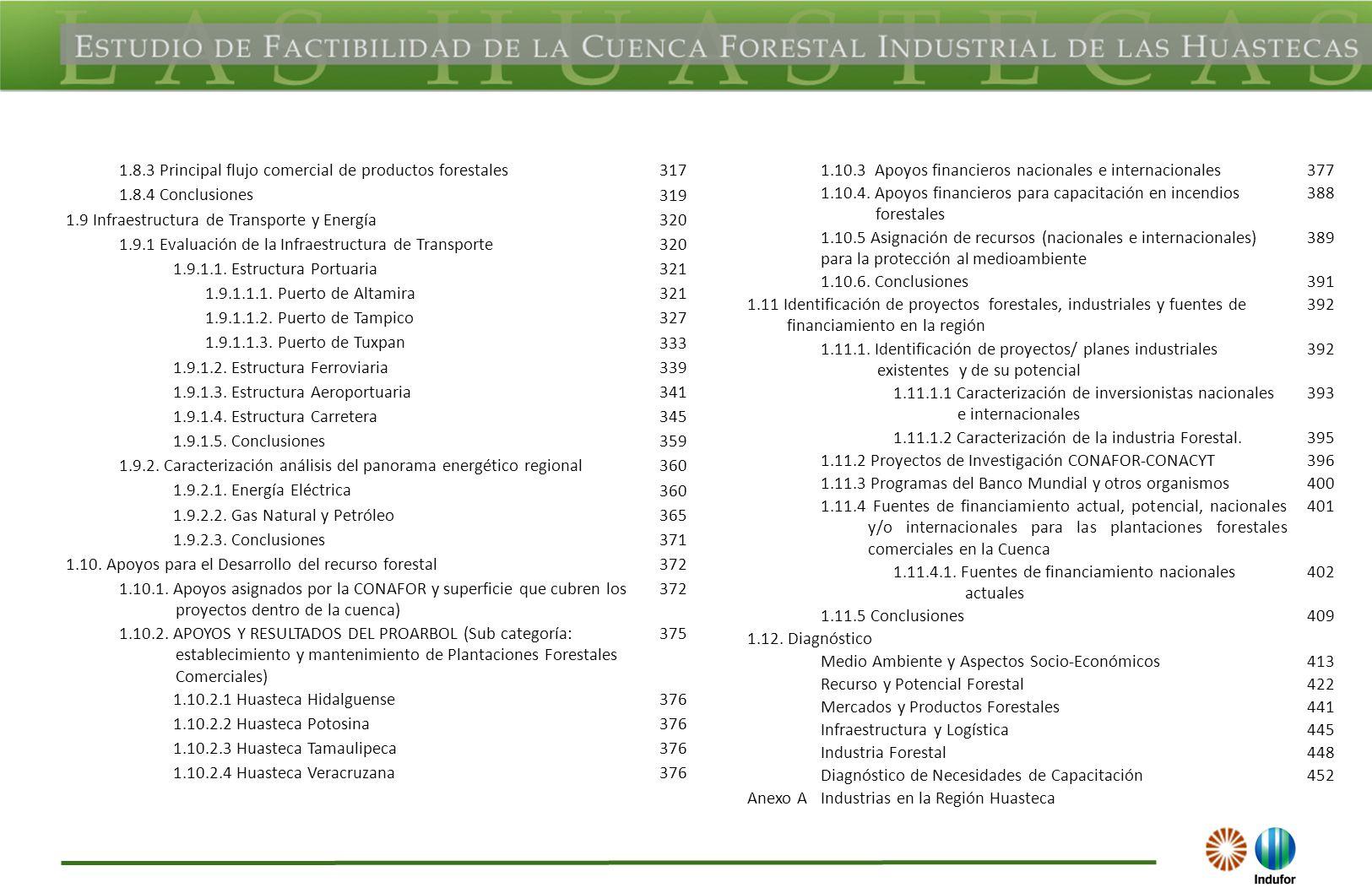 1.8.3 Principal flujo comercial de productos forestales