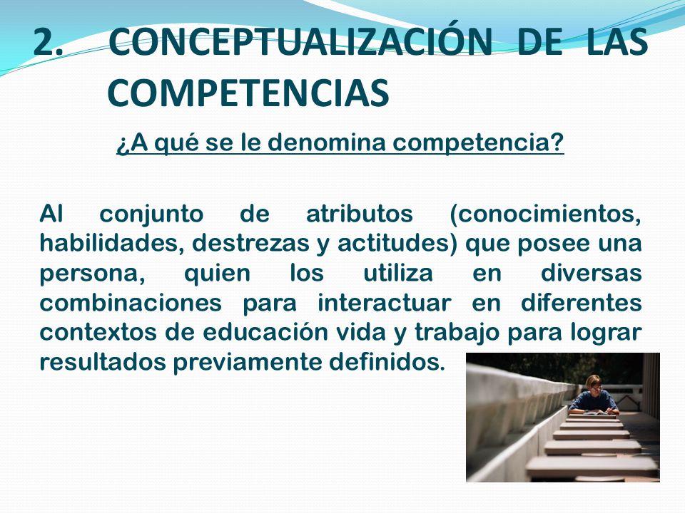 2. CONCEPTUALIZACIÓN DE LAS COMPETENCIAS