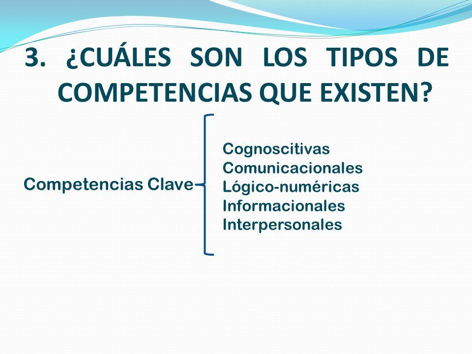 3. ¿CUÁLES SON LOS TIPOS DE COMPETENCIAS QUE EXISTEN