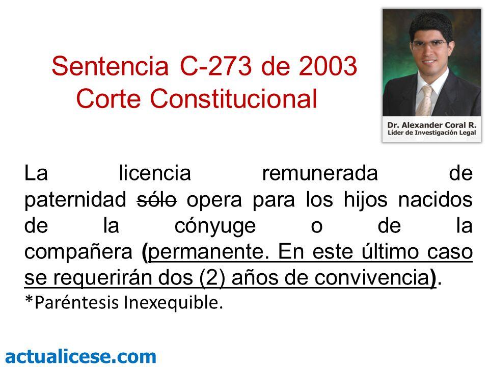 Sentencia C-273 de 2003 Corte Constitucional