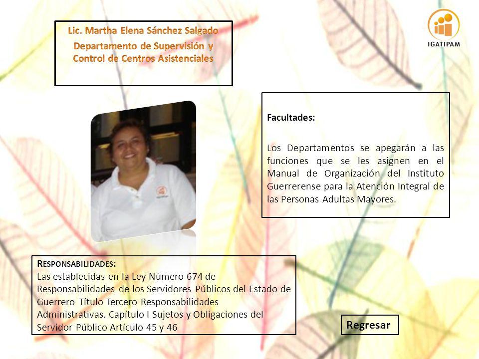 Regresar Lic. Martha Elena Sánchez Salgado
