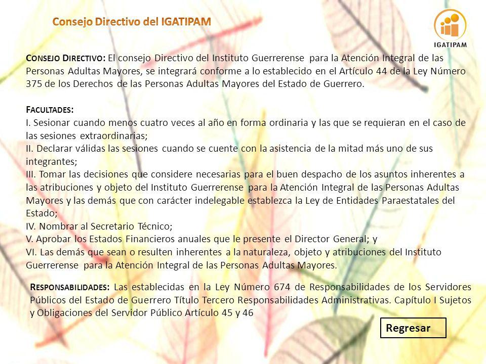 Consejo Directivo del IGATIPAM