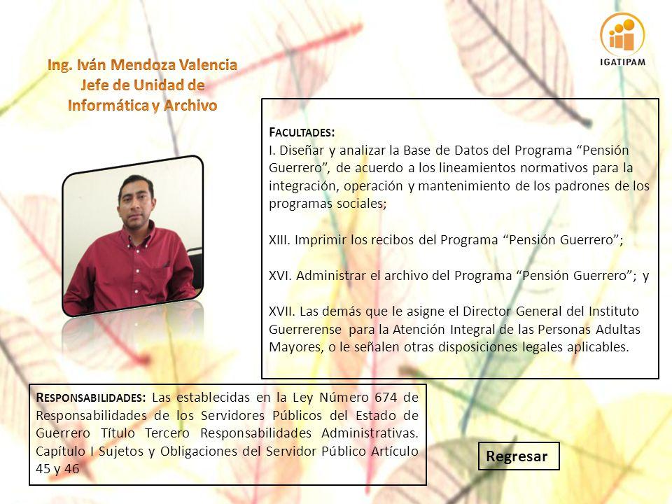 Ing. Iván Mendoza Valencia Jefe de Unidad de Informática y Archivo