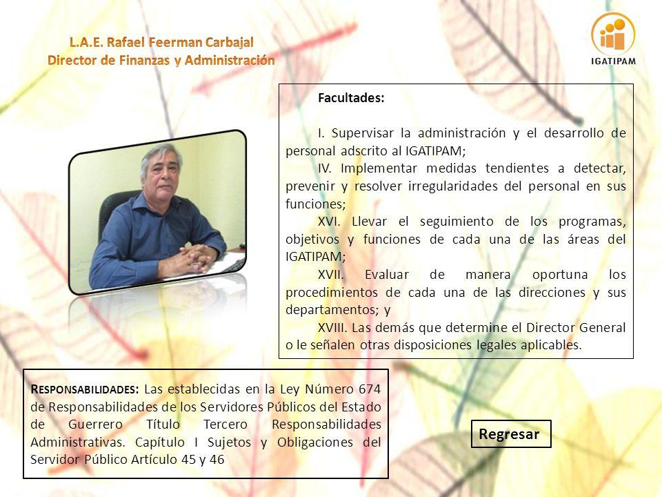 L.A.E. Rafael Feerman Carbajal Director de Finanzas y Administración