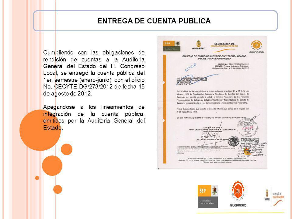 ENTREGA DE CUENTA PUBLICA