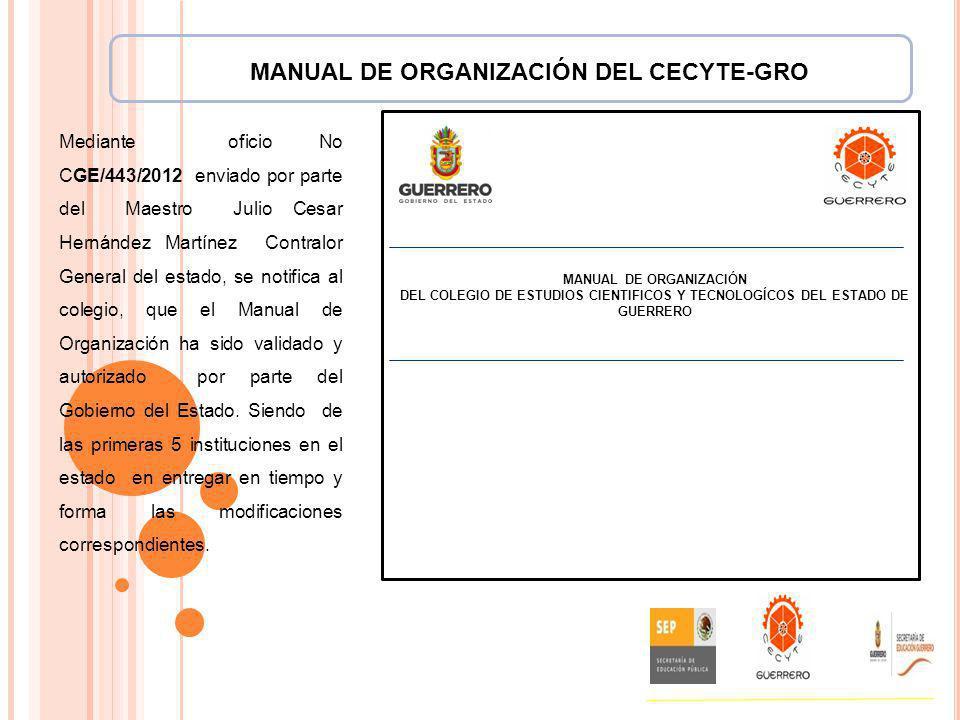 MANUAL DE ORGANIZACIÓN DEL CECYTE-GRO