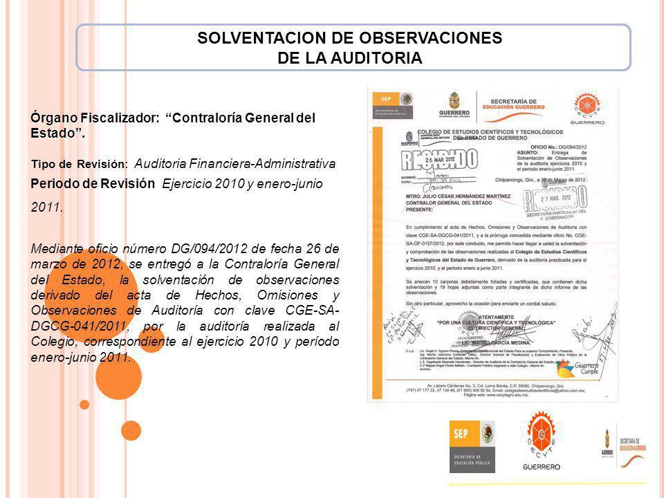 SOLVENTACION DE OBSERVACIONES
