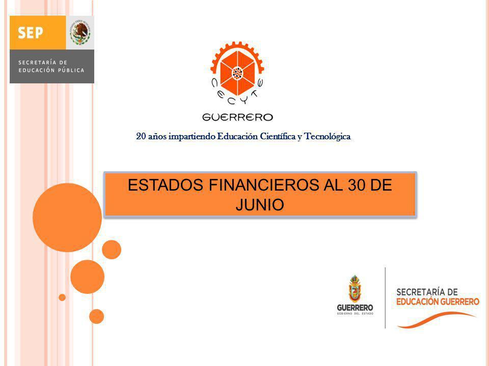ESTADOS FINANCIEROS AL 30 DE JUNIO