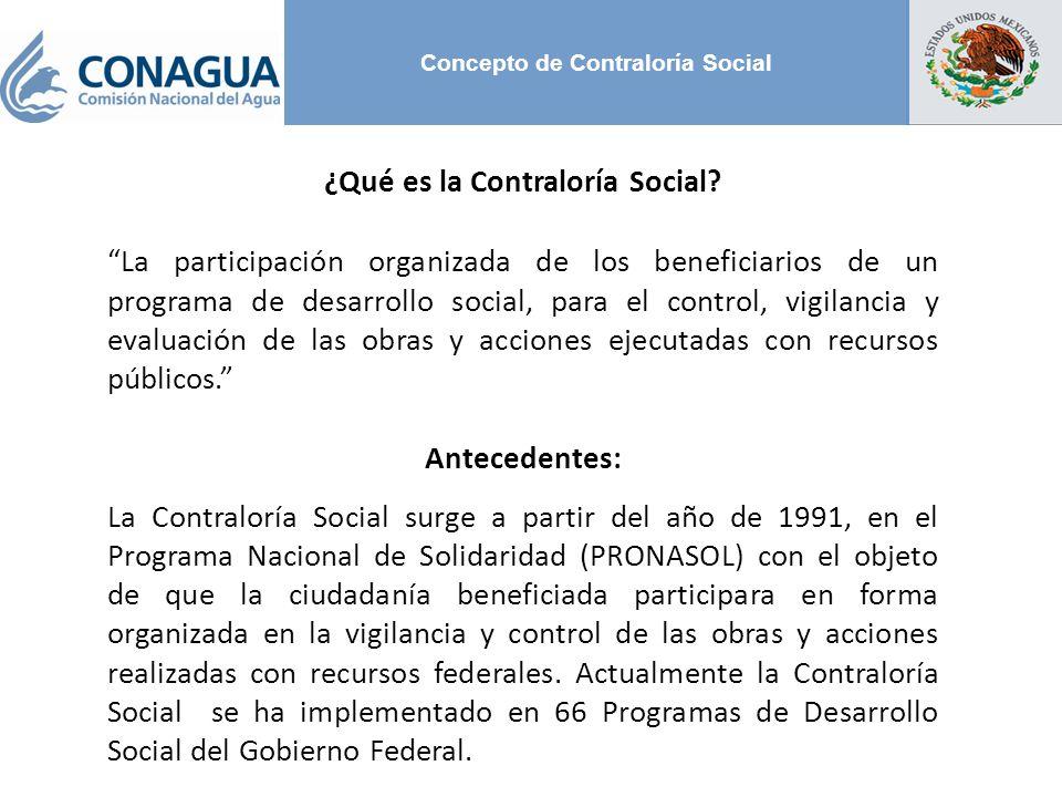 Concepto de Contraloría Social
