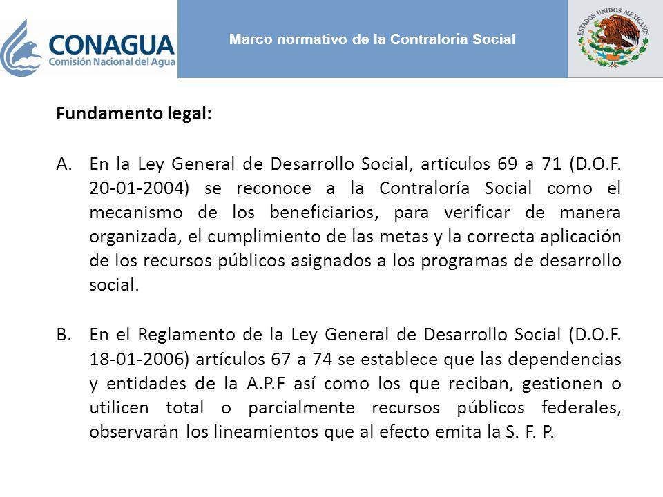 Marco normativo de la Contraloría Social