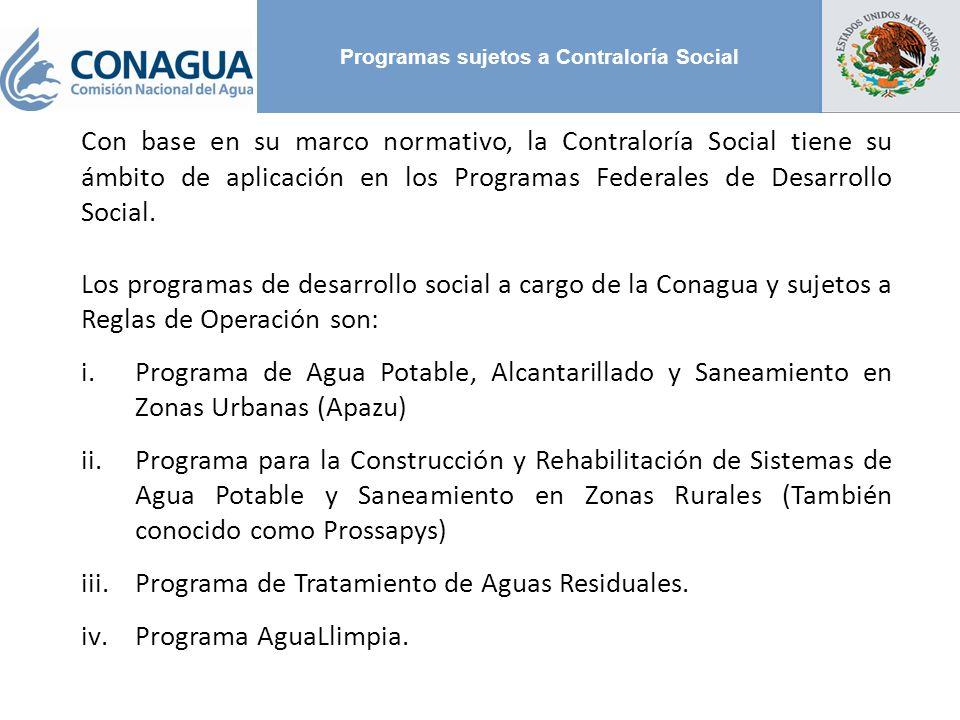 Programas sujetos a Contraloría Social