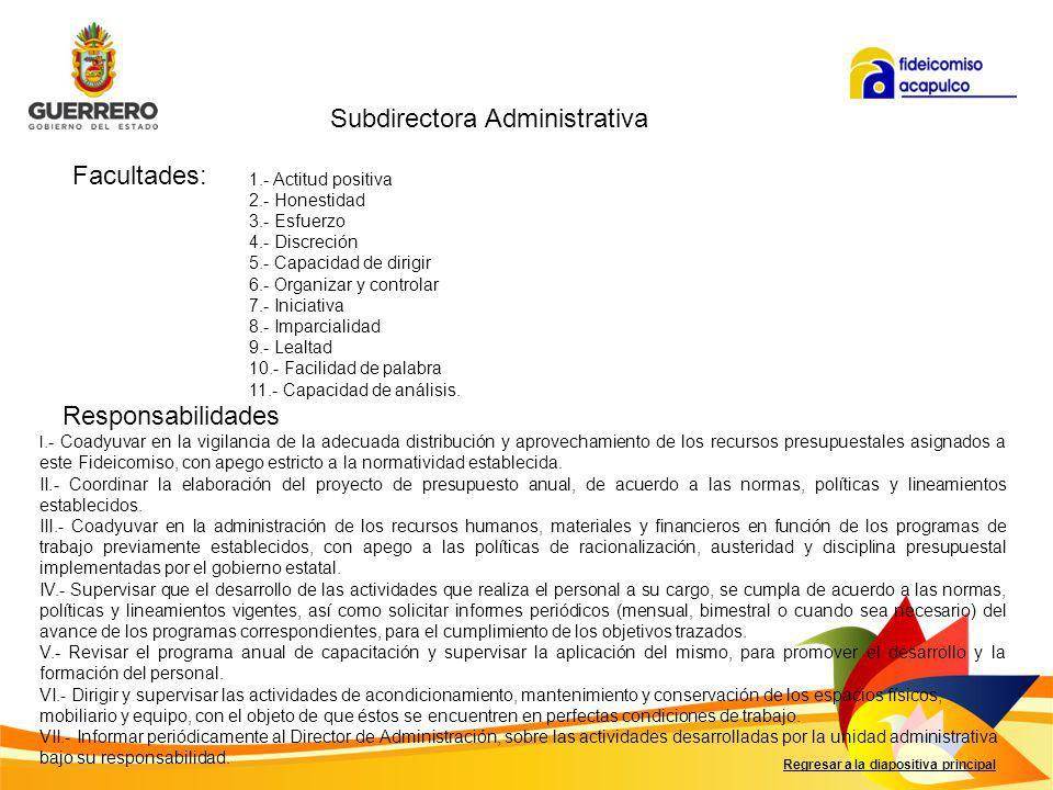 Subdirectora Administrativa
