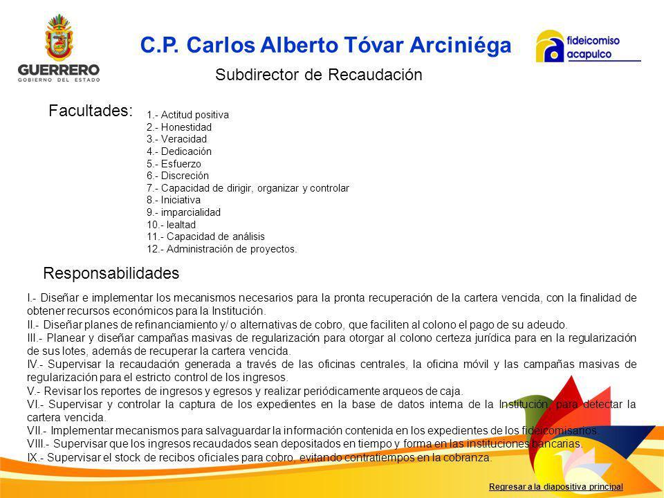 C.P. Carlos Alberto Tóvar Arciniéga