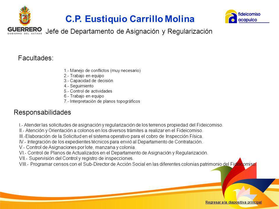 C.P. Eustiquio Carrillo Molina