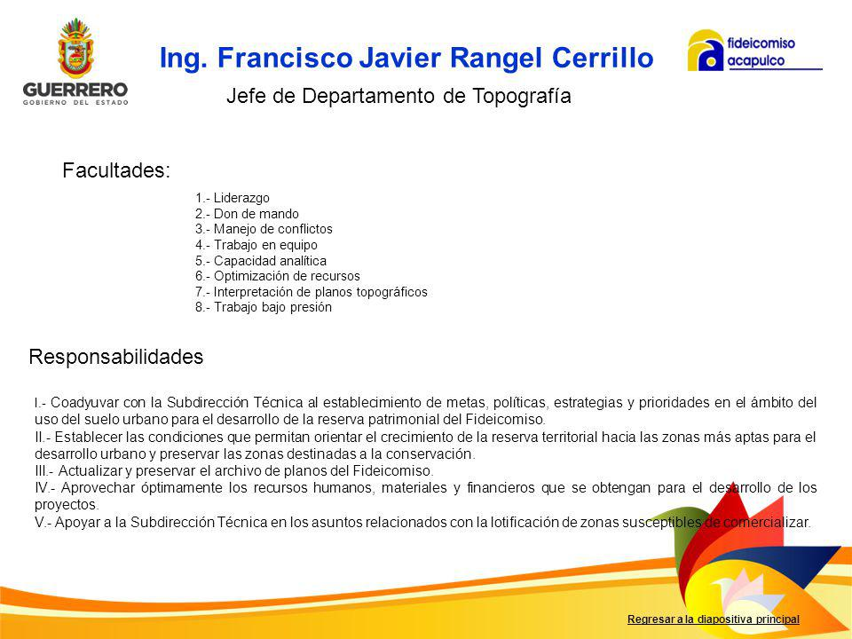 Ing. Francisco Javier Rangel Cerrillo