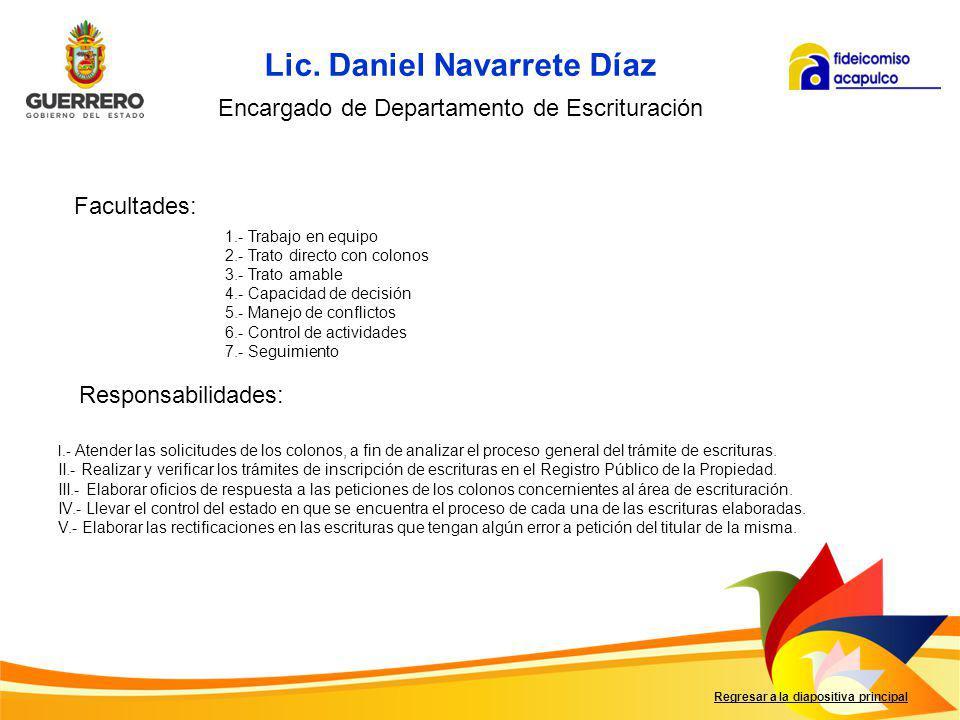 Lic. Daniel Navarrete Díaz
