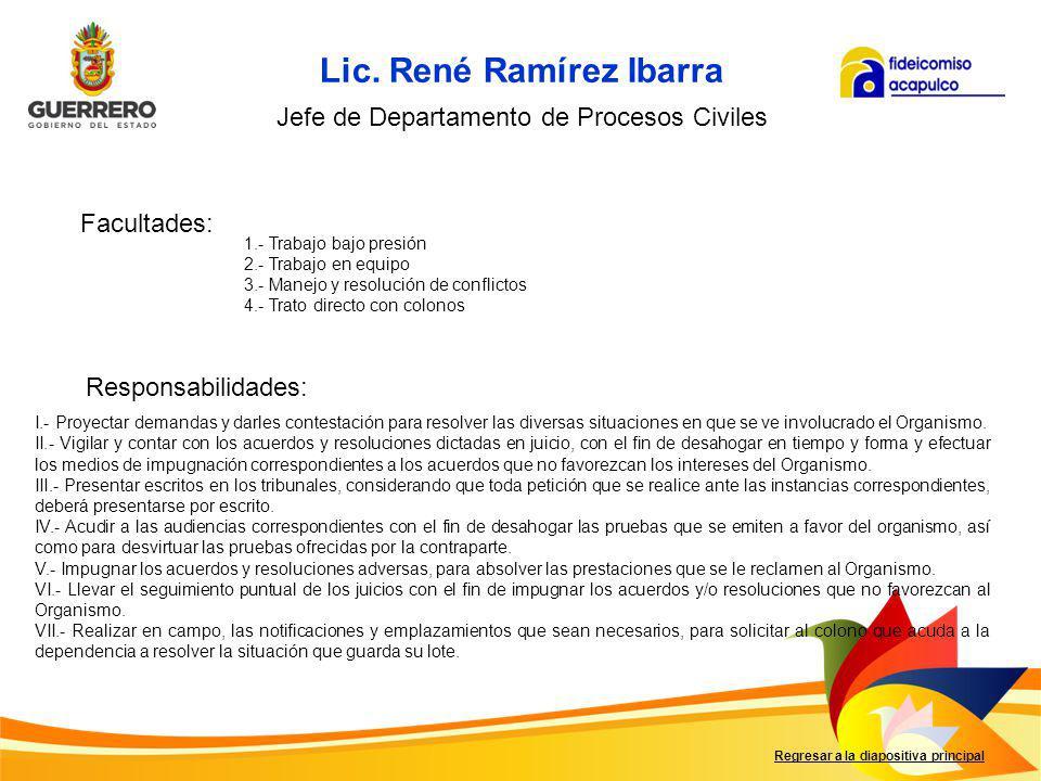 Lic. René Ramírez Ibarra