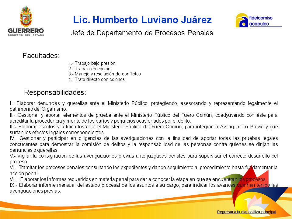 Lic. Humberto Luviano Juárez
