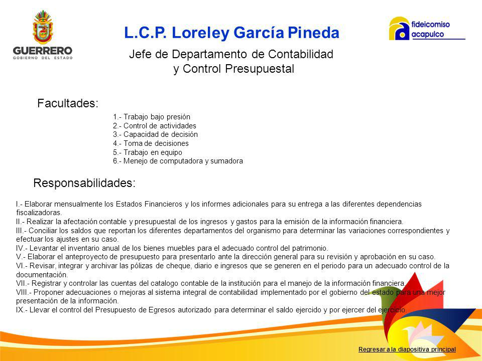 L.C.P. Loreley García Pineda