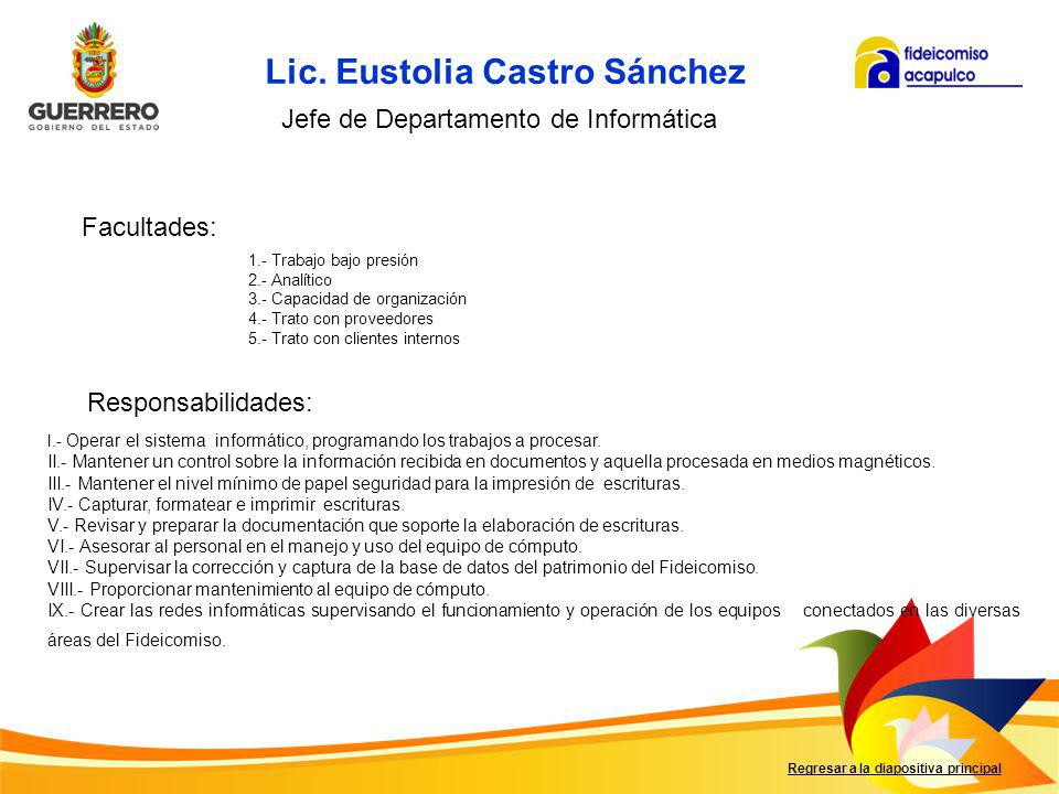 Lic. Eustolia Castro Sánchez