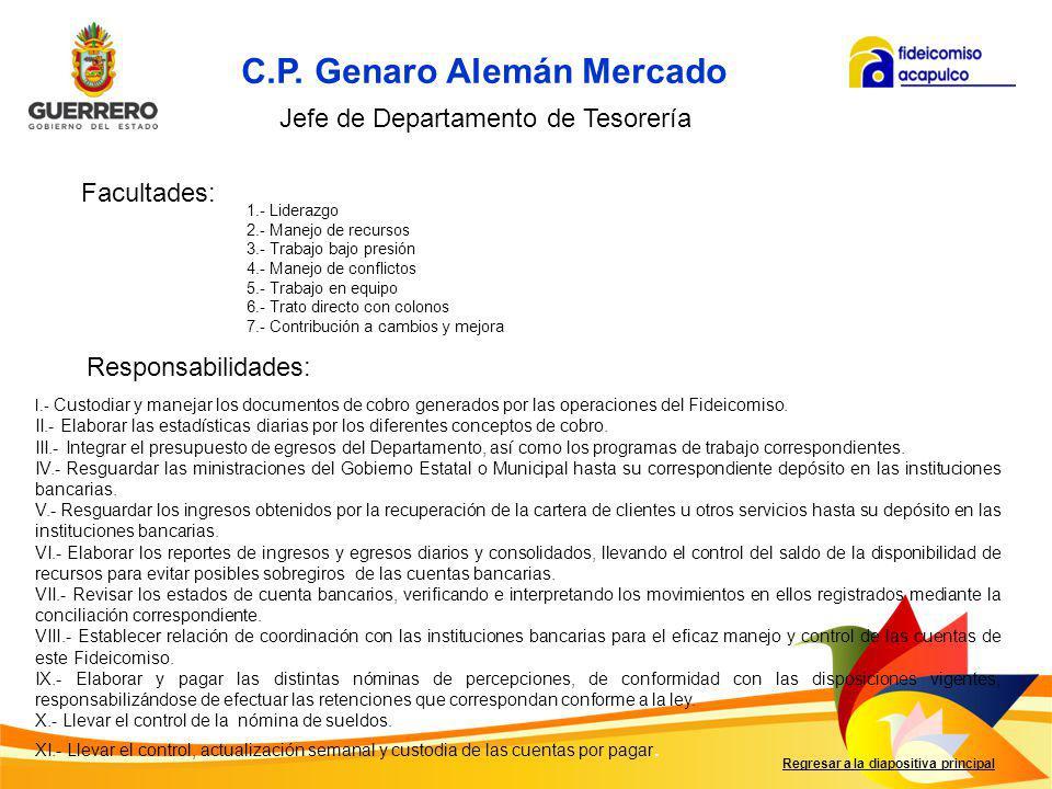 C.P. Genaro Alemán Mercado