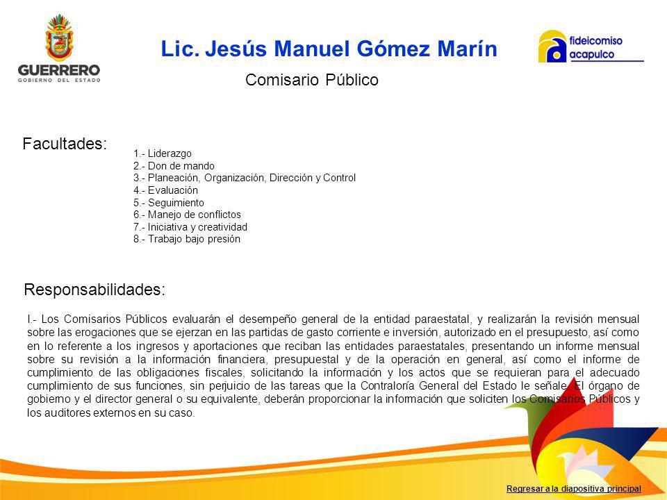 Lic. Jesús Manuel Gómez Marín