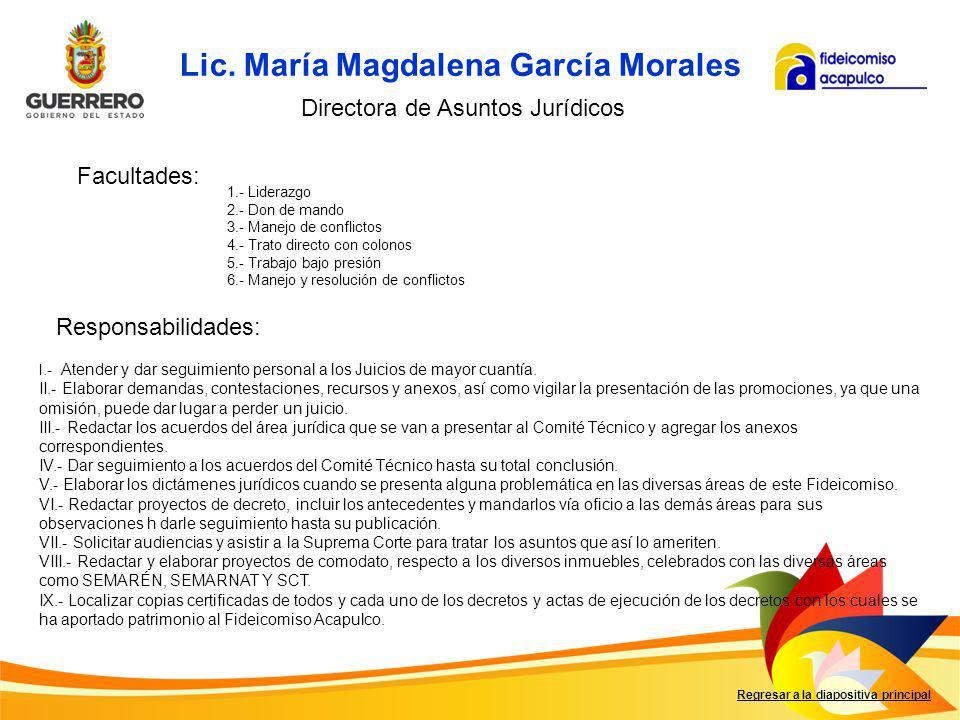 Lic. María Magdalena García Morales