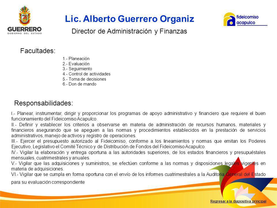 Lic. Alberto Guerrero Organiz