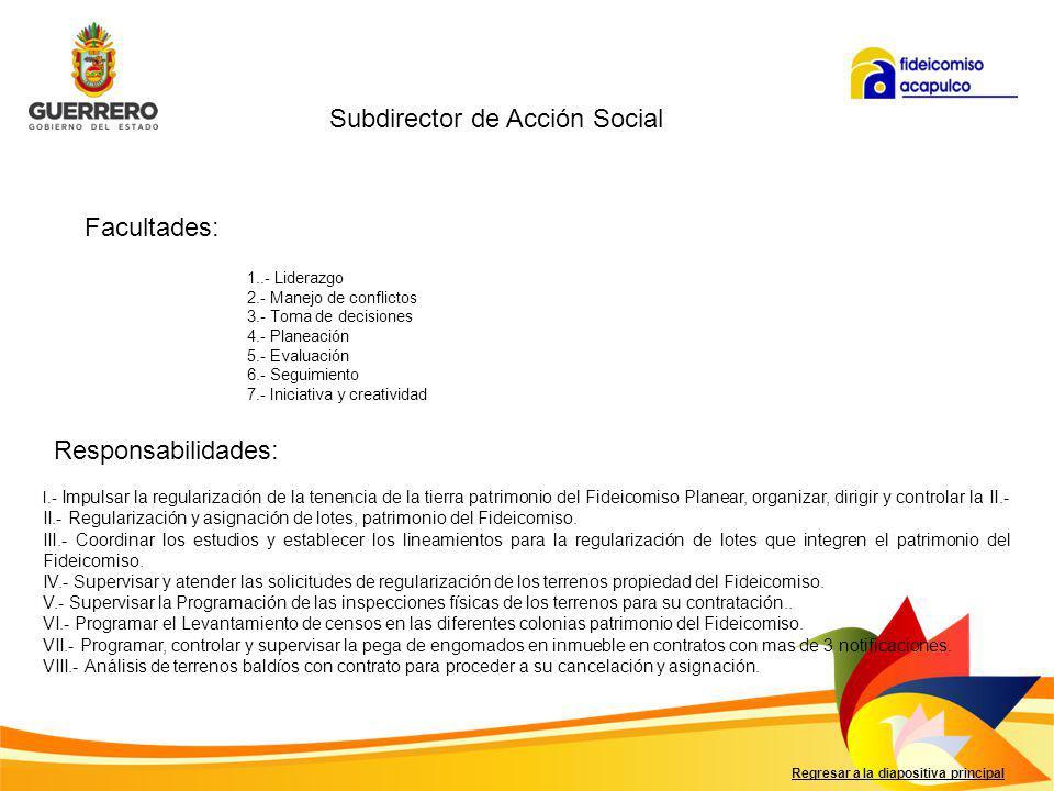 Subdirector de Acción Social