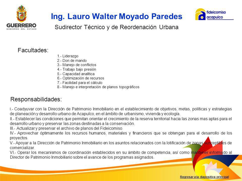 Ing. Lauro Walter Moyado Paredes
