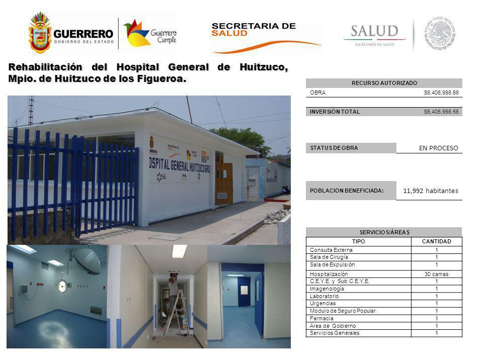 Rehabilitación del Hospital General de Huitzuco, Mpio