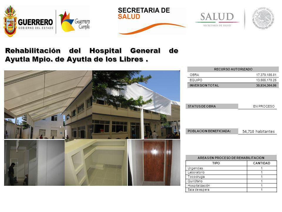 AREAS EN PROCESO DE REHABILITACION