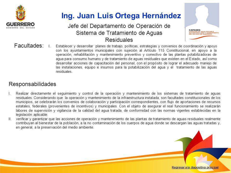 Ing. Juan Luis Ortega Hernández