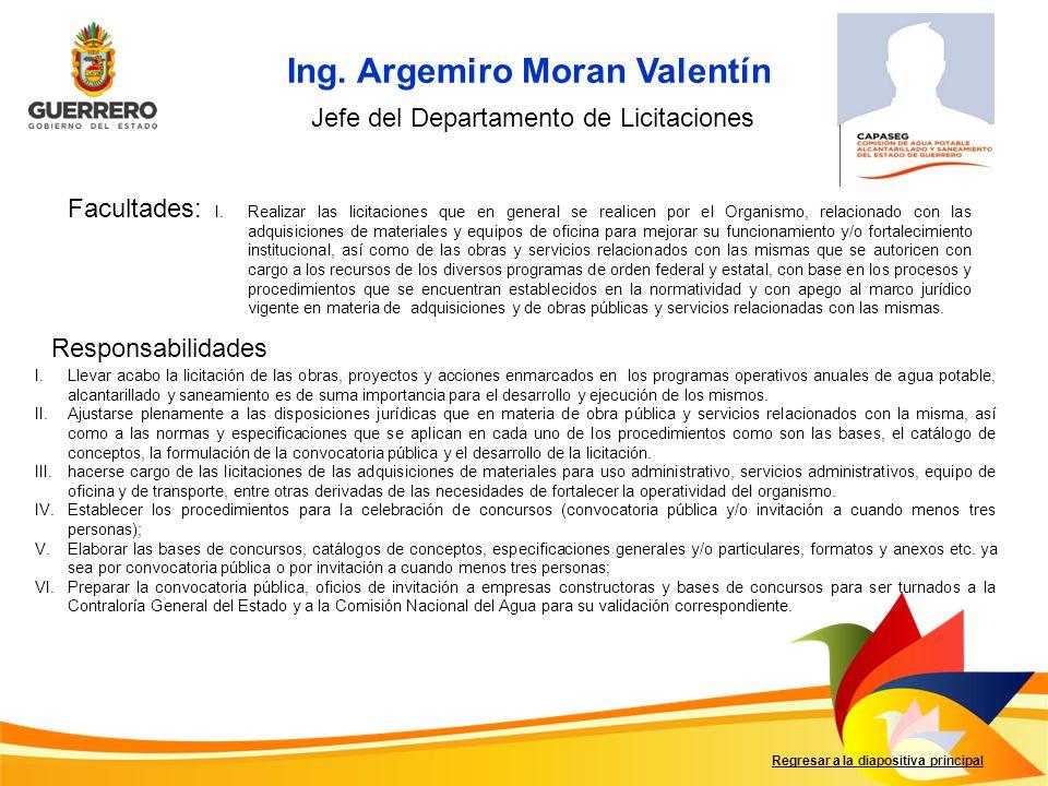 Ing. Argemiro Moran Valentín