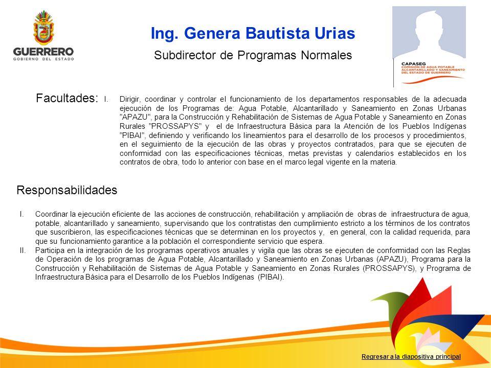 Ing. Genera Bautista Urias
