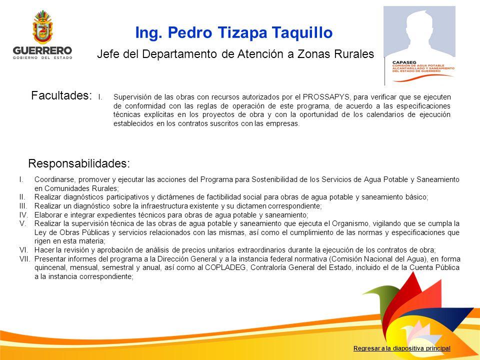 Ing. Pedro Tizapa Taquillo