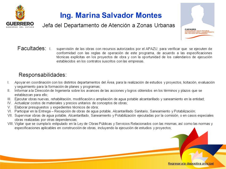 Ing. Marina Salvador Montes