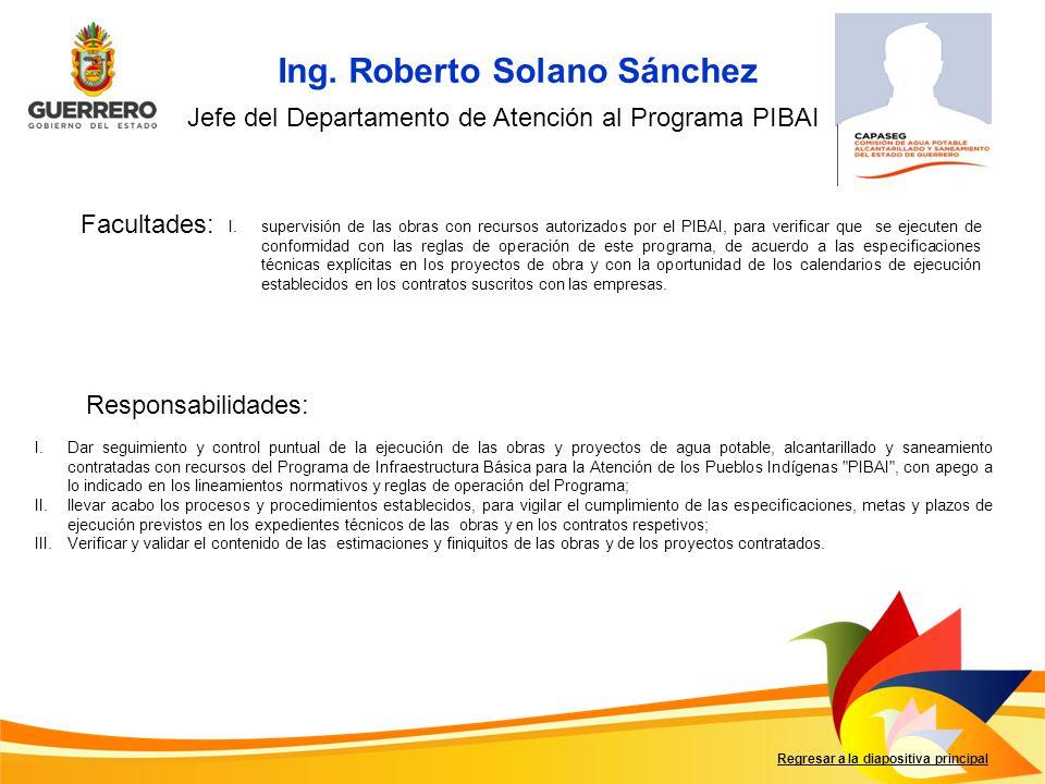 Ing. Roberto Solano Sánchez