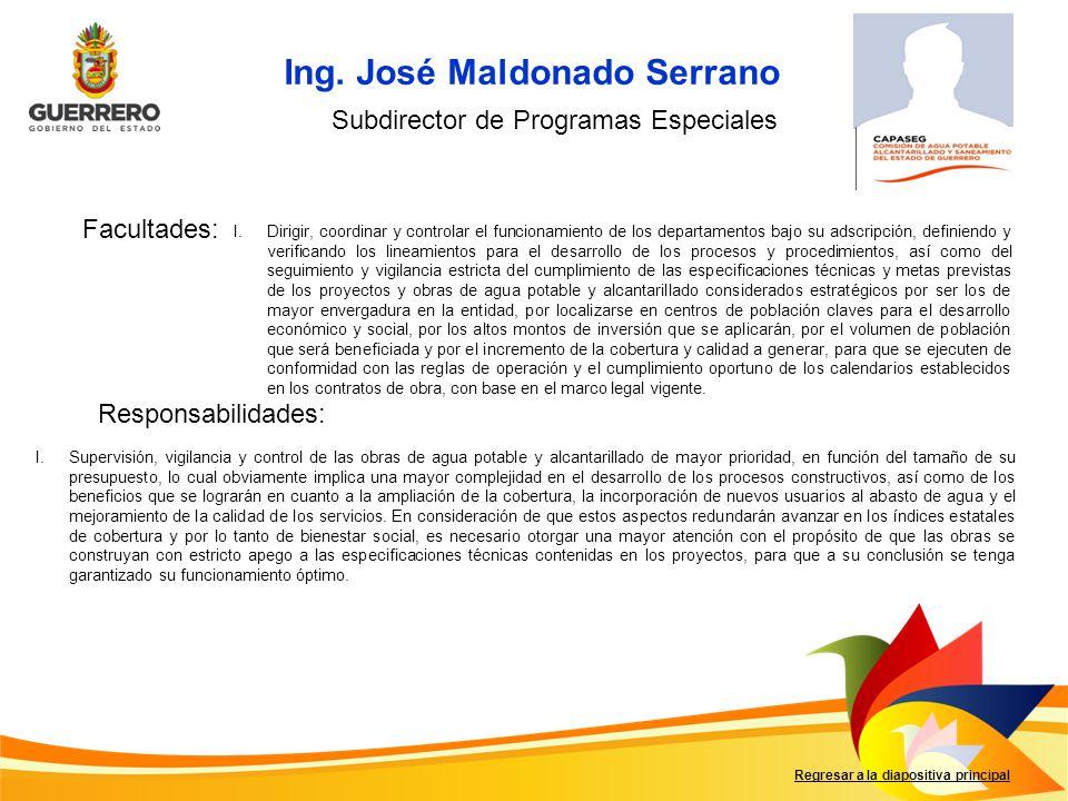 Ing. José Maldonado Serrano