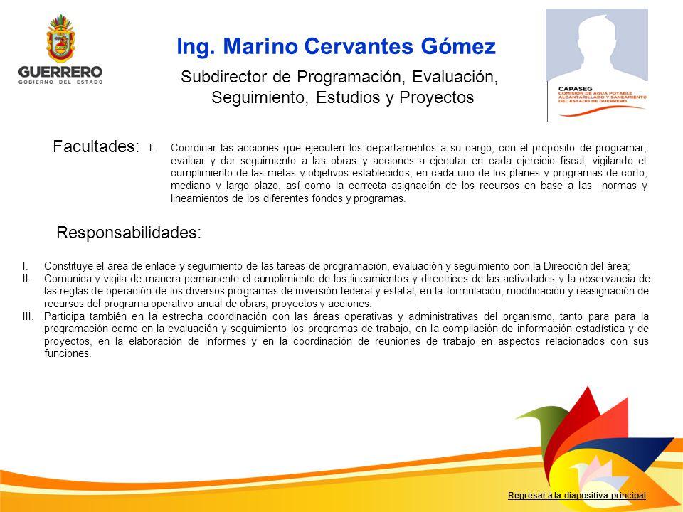 Ing. Marino Cervantes Gómez