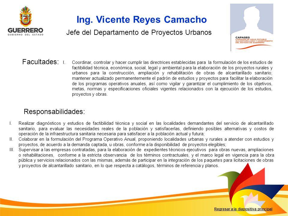 Ing. Vicente Reyes Camacho