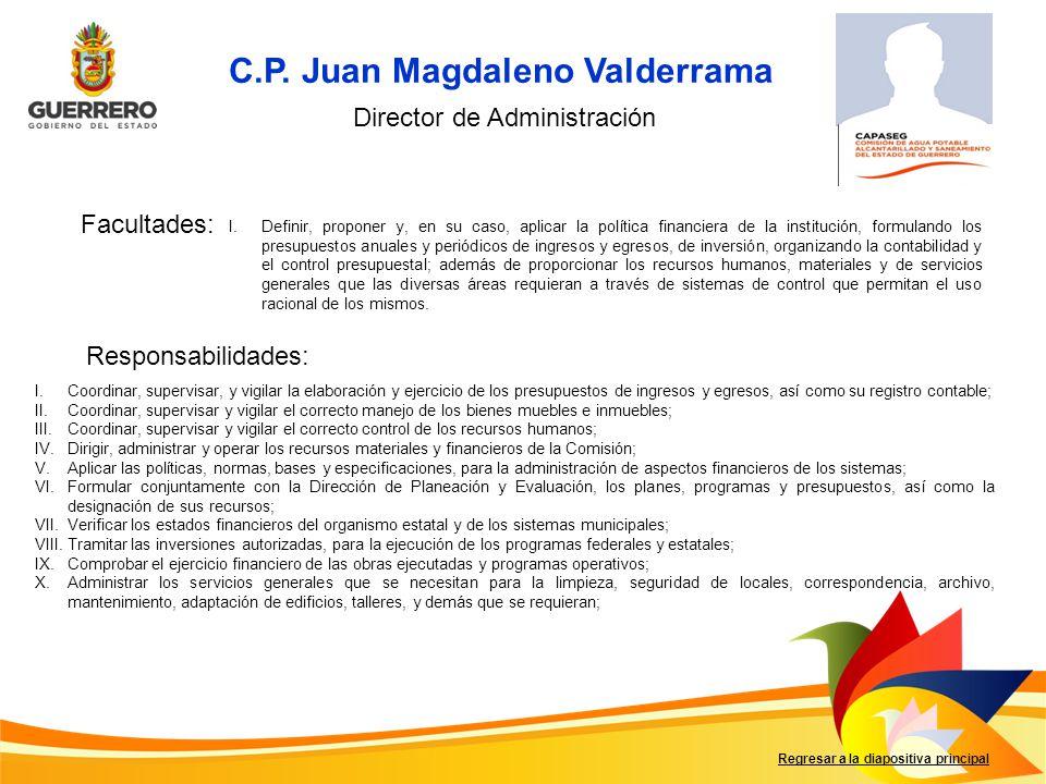 C.P. Juan Magdaleno Valderrama