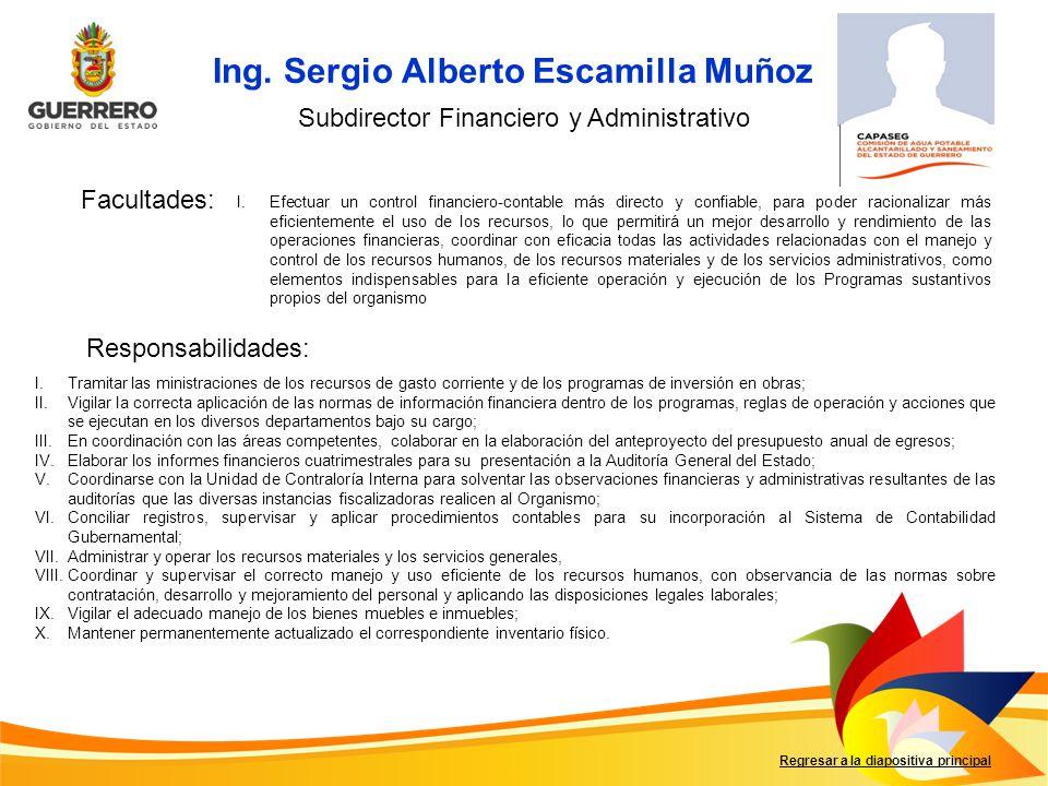 Subdirector Financiero y Administrativo