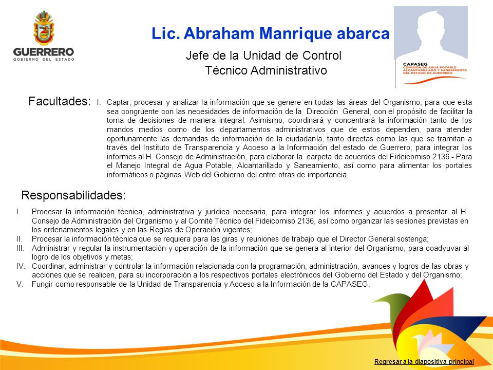 Lic. Abraham Manrique abarca