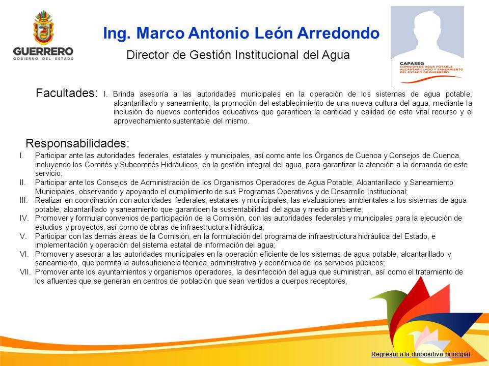 Ing. Marco Antonio León Arredondo