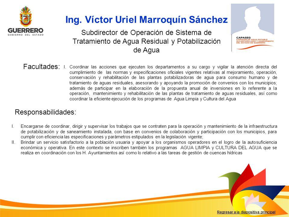 Ing. Víctor Uriel Marroquín Sánchez