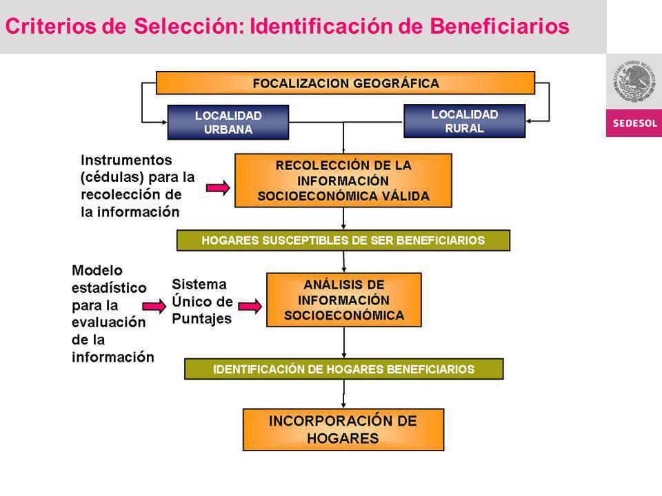 Criterios de Selección: Identificación de Beneficiarios