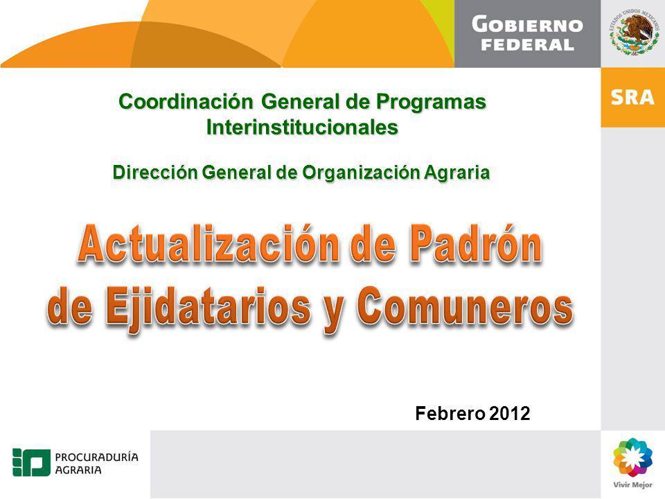 Actualización de Padrón de Ejidatarios y Comuneros