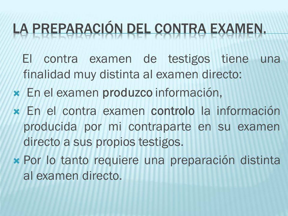 LA PREPARACIÓN DEL CONTRA EXAMEN.